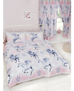 Stardust Unicorn Double Duvet Cover and Pillowcase Set Bedroom