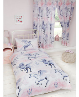Stardust Unicorn Single Duvet Cover and Pillowcase Set Bedroom