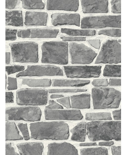 Stone Wall Wallpaper - Grey - 265620