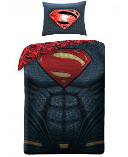 Superman Chest Single Duvet Cover and Pillowcase Set