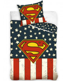 Superman USA Single Cotton Duvet Cover Set