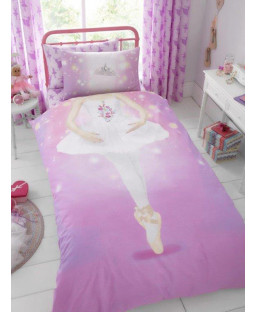 Ballerina Single Duvet Cover and Pillowcase Set