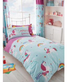 Unicorn Clouds Single Duvet Cover and Pillowcase Set