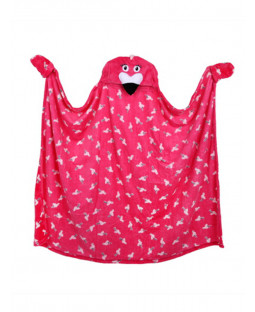Flamingo Hooded Blanket Fleece