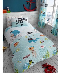 Juego de funda nórdica y funda de almohada Under The Sea Single