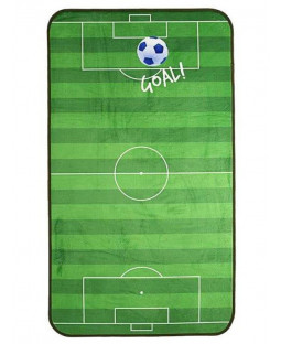 Football Floor Mat Rug - Blue