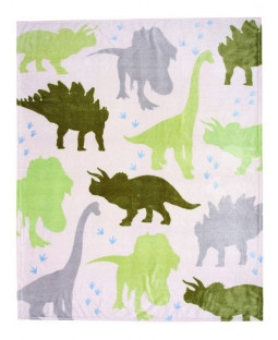 Dinosaur Fleece Blanket Throw