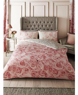 Bellrose Floral King Size Duvet Cover Set - Pink