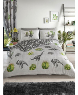Dinosaur Dreams Single Duvet Cover and Pillowcase Set