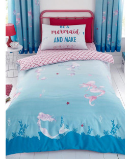 Mermaid World Single Duvet Cover and Pillowcase Set
