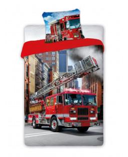 Fire Engine Single Duvet Cover And Pillowcase Set - European Size