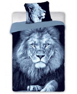 Lion Single Cotton Duvet Cover Set - European Size