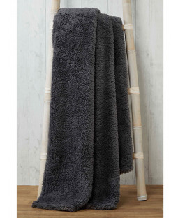 Snuggle Bedding Teddy Fleece Blanket Throw 130cm x 180cm - Charcoal
