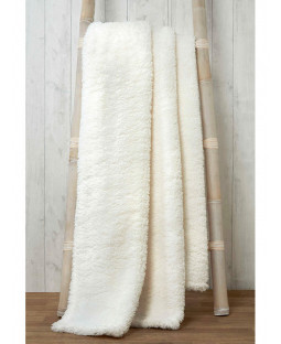 Snuggle Bedding Teddy Fleece Blanket Throw 150cm x 200cm - Natural