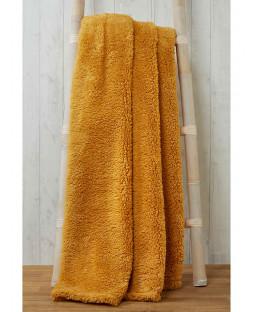 Snuggle Bedding Teddy Fleece Blanket Throw 130cm x 180cm - Ochre