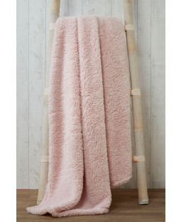 Snuggle Bedding Teddy Fleece Blanket Throw 130cm x 180cm - Pink