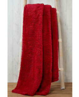 Snuggle Bedding Teddy Fleece Blanket Throw 150cm x 200cm - Red