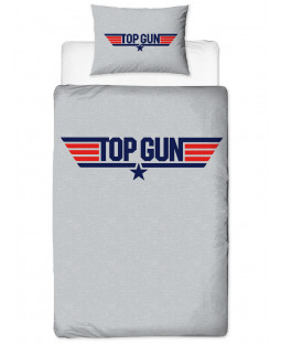 Top Gun Logo Single Duvet Cover and Pillowcase Set