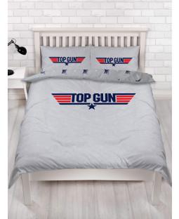 Top Gun Logo Double Duvet Cover and Pillowcase Set