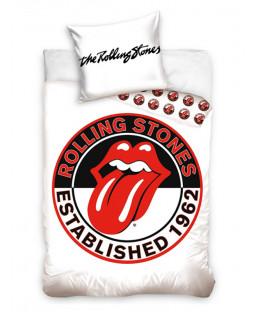 The Rolling Stones White Single Duvet Cover Set