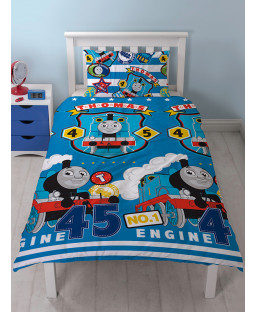Thomas & Friends Patch Single Reversible Duvet Cover Set