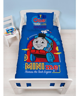 Thomas & Friends Minis 4 in 1 Toddler Bedding Bundle Set (Duvet, Pillow and Covers)