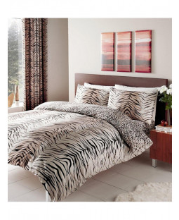 Tiger Skin Print Single Reversible Duvet Cover Set