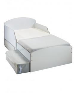 White Toddler Bed with Storage Plus Foam Mattress