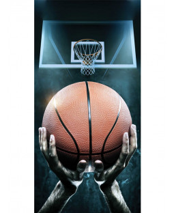 Basketball Hoops Beach Towel