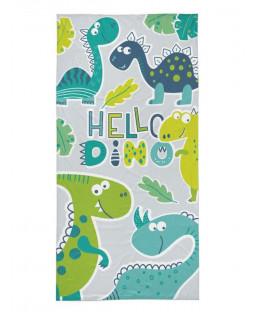 Hello Dino Beach Towel