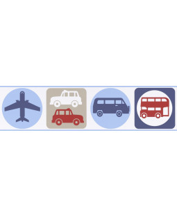 Transport Self Adhesive Wallpaper Border