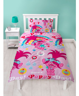 Trolls Dreams Single Duvet Cover Bedding Set