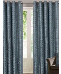 Belle Maison Lined Eyelet Curtains - Tuscany Range, Duck Egg
