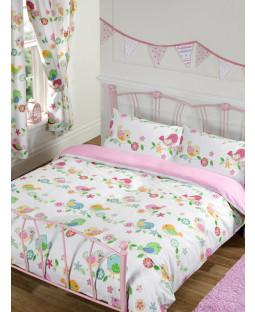 Tweet Tweet Birds Double Duvet Cover and Pillowcase Set