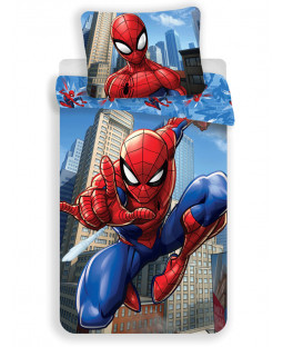Spiderman Blue Cotton Single Duvet Set - European Size