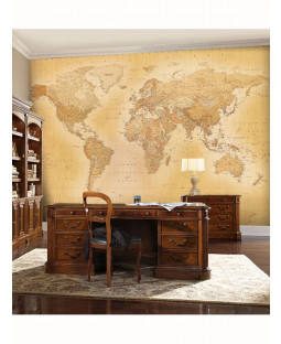 Vintage World Map Mural de pared 2.32mx 3.15m