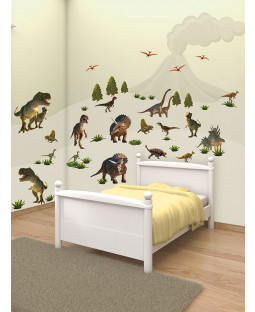 Walltastic Dinosaur Land Room Decor Wall Sticker Kit