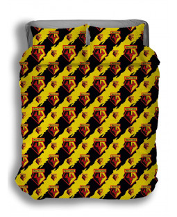 Watford FC Double Duvet Cover and Pillowcase Set