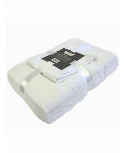 White 6 Piece Cotton Bath Towel Bale Set