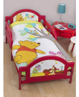 Winnie the Pooh Forest Junior Panel 4 in 1 Bed Set - Duvet and Pillow and Covers