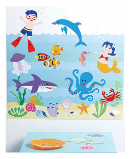 Wallies Wall Play Olive Kids Seaquarium Stickers