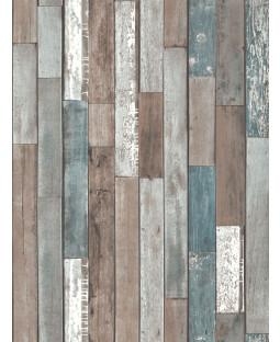 Wood Planks Wallpaper - Blue - FD40888