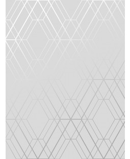 Metro Diamond Geometric Wallpaper Grey and Silver WOW001