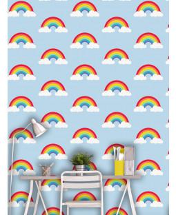Blue Rainbow Wallpaper and Multi