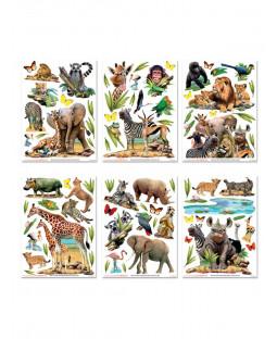 Walltastic Jungle Safari Animals Room Decor Wall Sticker Kit