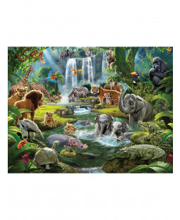 Decorazione murale con animali della giungla Walltastic 2,44 mx 3,05 m