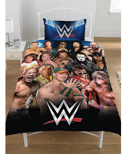Juego de funda nórdica y funda de almohada WWE Legends Single
