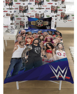 WWE Face V Heel Single Panel Duvet Cover and Pillowcase Set