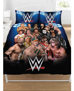 Juego de funda nórdica y funda de almohada doble WWE Legends