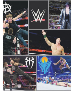 WWE Wrestling Wallpaper Negro WP4-WWE-BLK-12